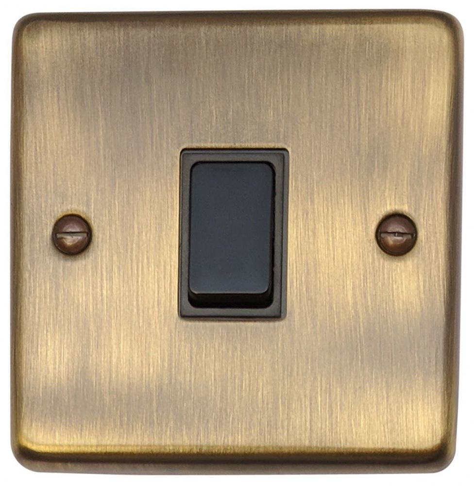 G&H CAB1B Standard Plate Antique Bronze 1 Gang 1 or 2 Way Rocker Light Switch